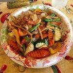 Vegetable stir fry with shrimp! Super Delish!