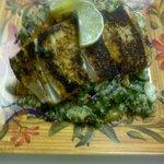 Organic quinoa salad with fresh local fish