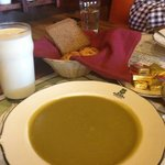 Pea soup, pumpernickel, buttermilk. Just because.