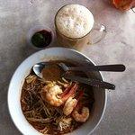 The Sarawak Laksa and Nescafe' tarek