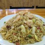 #42. Hawaiian Fried Rice - Pineapple Chunks, Shrimp, Chicken & BBQ Pork