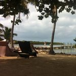 view from the resort beach. we were sitting on a hammock