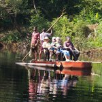 On the raft at start of bush walk