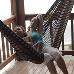 Enjoying our hammock as much as we could