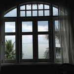Big bay window facing the sea