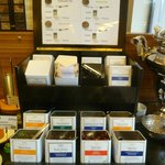 Tea selection at breakfast