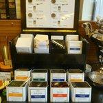 Tea selection at breakfast