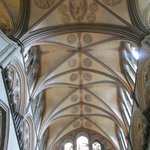 Vaulted ceiling inside the cathedral