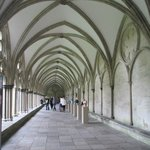 Walking along the cloister