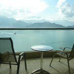 水漾客房的陽台與湖景
