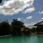 Een heerlijk rust momentje bij het zwembad!!