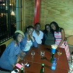 With the gals and Sakhumzi himself
