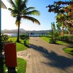 walknig around the resort