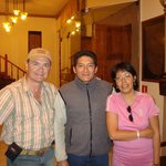 At Ruinas hotel with Percy of Epuerto Peru travel agency