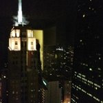 Night view over-looking the Palmolive building and toward th