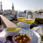 Drinks and snacks on the roof terrace