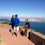 Matt, our guide, with the guys at the Cabrillo Monument!