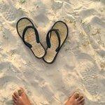 gorgeous white sand!