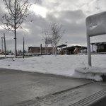 A snowy day at Centennial Center Park