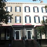 Historic District..identical houses built for twins who didn't get along!