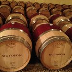 Octagon Barrels of Wine
