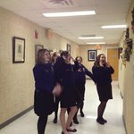 FFA members have fun learning about ceramic masks made by Liz Hollingswoth