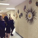 FFA members camp it up while viewing the work of artist Liz Hollingsworth