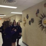 FFA members enjoy art at the Strasburg Town Hall