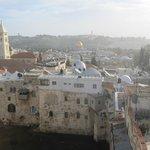 vista dal terrazzo, Moschea e monte degli ulivi