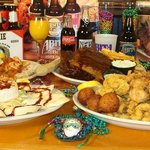 A Variety of the Delicious Items offered at The Bayou