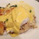 Dungeness Crab Benedict at the Cedars