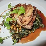 Divine Pork Loin with the most amazing Kale and Pumpkin Spaetzle
