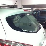 Smashed rear window