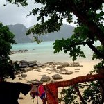 gorgeous view of phi phi ley from our balcony!