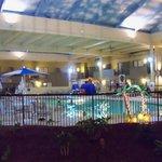 Indoor salt water heated pool