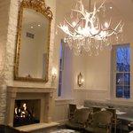 wonderful chandelier in main living area
