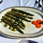Fresh grilled green Asparagus