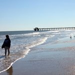Tybee beach and pier