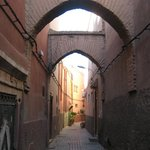 Alley where hotel entrance is situated
