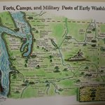 A map of the Washington Territory military installations.