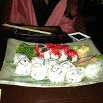 spicy tuna and Alaskan king crab rolls