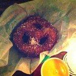 deep fried jalapeño cheese filled pretzel.. Yum!