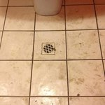 Bathroom floor was never cleaned!