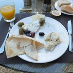 Amazing Lebanese cheeses at breakfast!