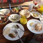 Delicious Arabic food at the pool area
