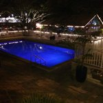 Pool and Tiki Bar at night