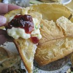 Digging into the Baked Brie - WOW!