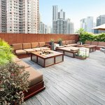 Rooftop - tropical rooftop garden equipped with BBQ facilities and Wi-Fi internet access
