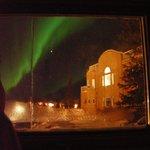 Watching aurora from my loft bed