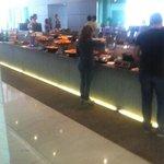 buffet on mezzanine floor